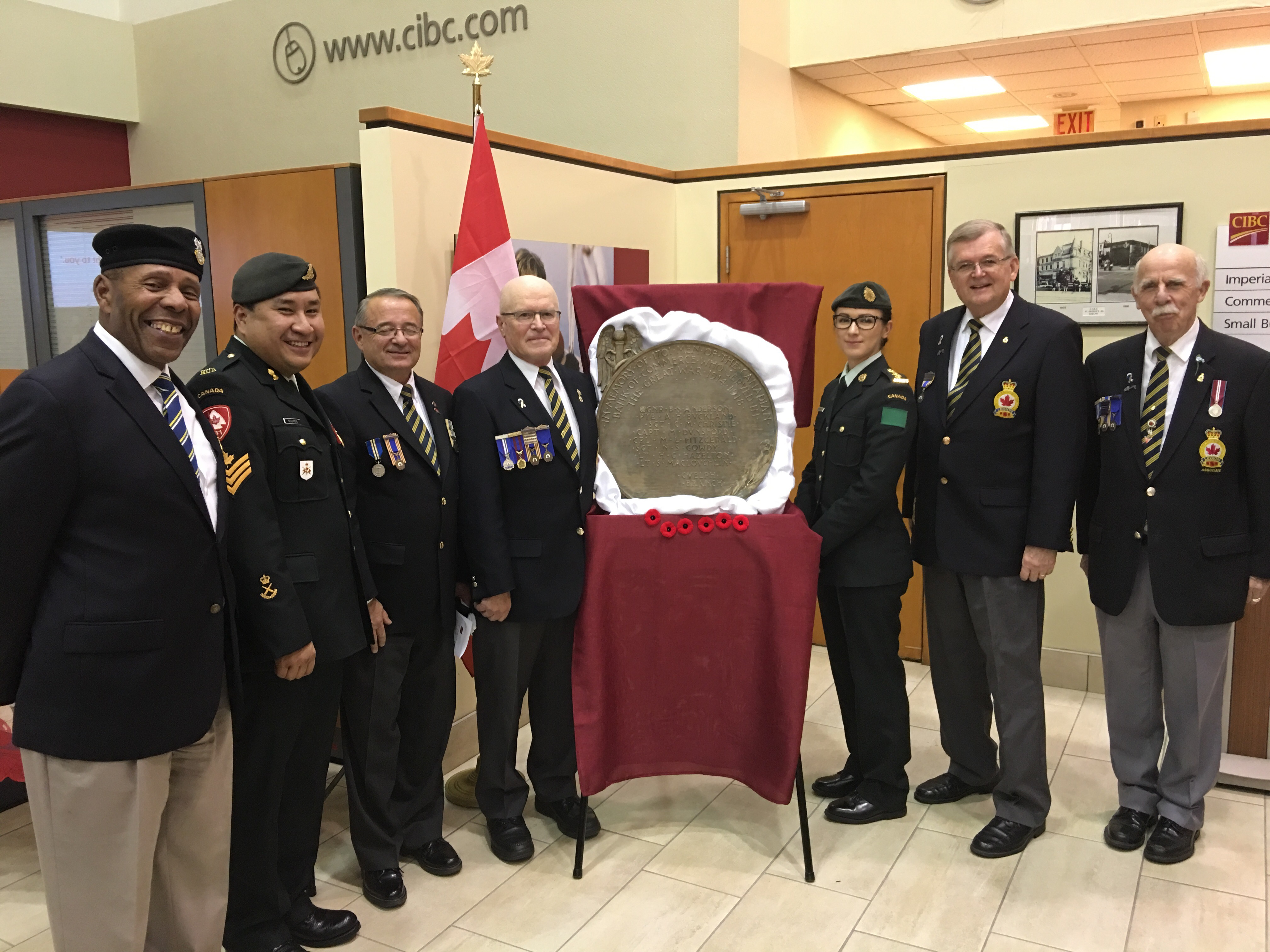 VIDEO CIBC Rededicates WW Heroes With Found yr Old Guelph Img  Video Cibc Rededicates Ww Heroes With Found yr Old Guelph Plaque