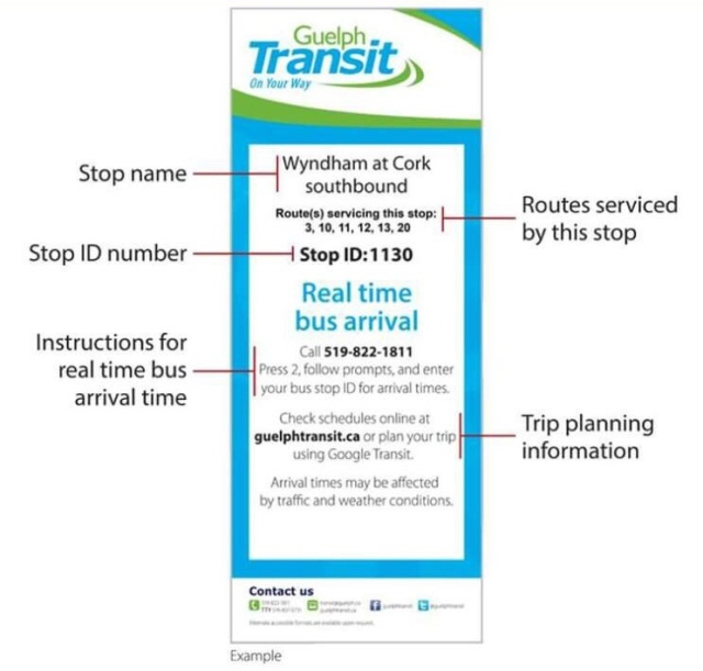 Guelph Transit Schedule Info Changes At Bus Stops